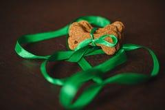 Galletas formadas hechas en casa de los huesos de perro Fotografía de archivo