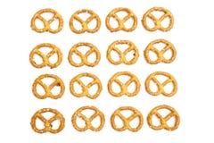 Galletas formadas nudo del pretzel Imágenes de archivo libres de regalías