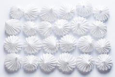 Galletas francesas del merengue de la vainilla Foto de archivo libre de regalías