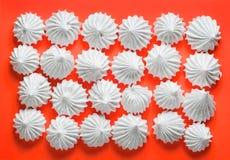 Galletas francesas del merengue de la vainilla Foto de archivo