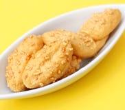 Galletas frescas con queso Foto de archivo libre de regalías