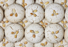 Galletas frescas hechas en casa del tahini Imagenes de archivo