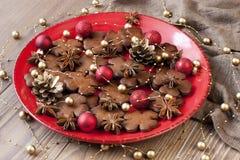Galletas hechas en casa de la Navidad Imagen de archivo