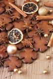 Galletas hechas en casa de la Navidad Imagenes de archivo