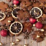 Galletas hechas en casa de la Navidad Foto de archivo libre de regalías