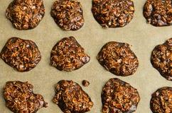 Galletas hechas en casa del chocolate Foto de archivo libre de regalías