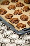Galletas hechas en casa del chocolate Imágenes de archivo libres de regalías