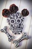 Galletas hechas en casa del cráneo para Halloween Imagen de archivo