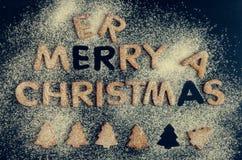 Galletas hechas en casa del pan de jengibre de la Navidad Imágenes de archivo libres de regalías