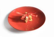 Galletas hechas en casa del pan de jengibre de la Navidad el tabla el 17 de noviembre de 2014 Fotografía de archivo