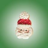 Galletas hechas en casa del pan de jengibre de Santa Claus Fotografía de archivo