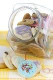 Galletas hechas en casa en tarro Fotos de archivo