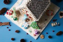 Galletas hechas en casa tradicionales del pan de jengibre Imágenes de archivo libres de regalías