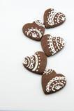 Galletas hechas a mano del chocolate Fotografía de archivo