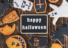 Galletas hechas a mano para Halloween Imagenes de archivo