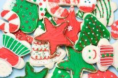 Galletas heladas de la Navidad Fotografía de archivo