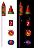 Galletas indias tradicionales del fuego para el diwali libre illustration