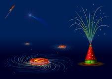 Galletas indias tradicionales del fuego para el diwali