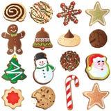 Galletas lindas de la Navidad Foto de archivo libre de regalías