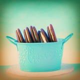 Galletas llenadas crema Foto de archivo libre de regalías