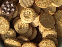 Galletas mezcladas de las galletas Fotos de archivo