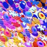 Galletas multicoloras Foto de archivo libre de regalías
