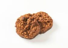 Galletas orgánicas del chocolate de la quinoa Fotografía de archivo