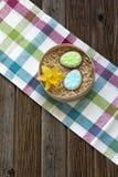 Galletas para la tabla de Pascua Imagen de archivo libre de regalías
