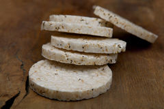 Galletas redondas del arroz Foto de archivo