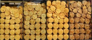 Galletas redondas sabrosas de las galletas Fotografía de archivo libre de regalías