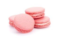 Galletas rosadas del macaron Foto de archivo libre de regalías