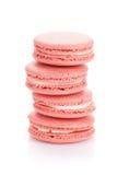 Galletas rosadas del macaron Fotografía de archivo libre de regalías