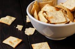 Galletas saladas Imagenes de archivo