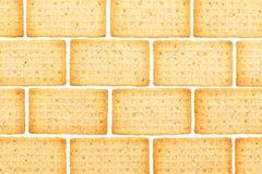 Galletas simples aisladas Imagenes de archivo