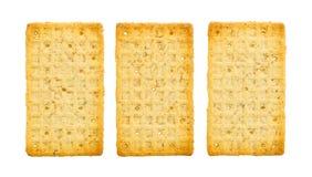 Galletas simples aisladas Foto de archivo libre de regalías