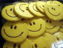 Galletas sonrientes Fotografía de archivo