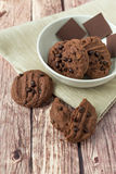 Galletas suaves del chocolate Imagen de archivo libre de regalías