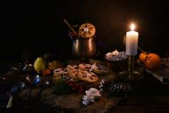 Galletas tradicionales de la Navidad Fotos de archivo