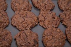 Galletas triples del chocolate Foto de archivo libre de regalías