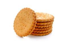 GALLETAS - Una pila de galletas redondas del trigo delicioso imágenes de archivo libres de regalías