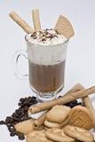 Galletas y café. Fotos de archivo