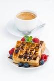 Galletas y café express tradicionales del dulce Imagen de archivo libre de regalías