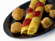 Galletas y caramelo chinos Foto de archivo libre de regalías