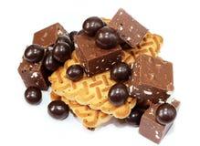 Galletas y chocolate Fotografía de archivo libre de regalías