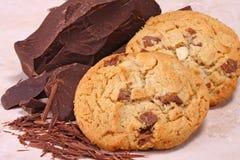 Galletas y chocolate Foto de archivo