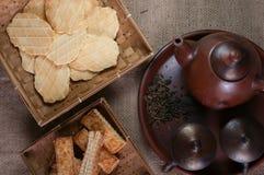 Galletas y el té Fotografía de archivo libre de regalías