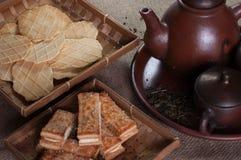 Galletas y el té Foto de archivo libre de regalías