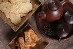 Galletas y el té Imagenes de archivo