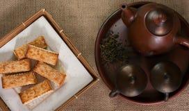 Galletas y el té Imagen de archivo