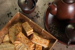 Galletas y el té Fotografía de archivo